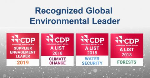 FIRMENICH RECOGNIZED AS A GLOBAL ENVIRONMENTAL LEADER WITH OUR FOURTH CDP TOP SCORE THIS YEAR