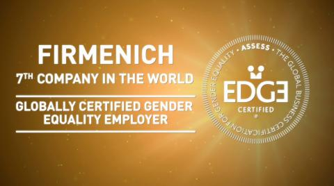 FIRMENICH,  7TH COMPANY IN THE WORLD TO BE GLOBALLY CERTIFIED BY EDGE FOR WORKPLACE GENDER EQUALITY