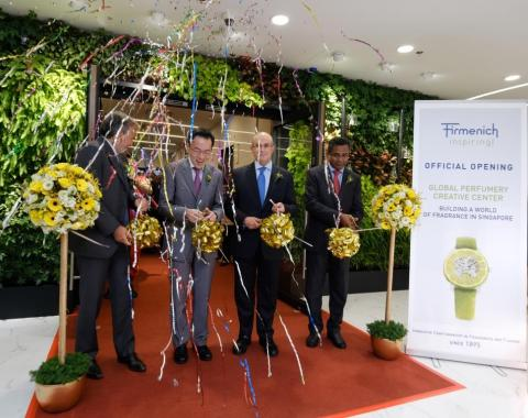FIRMENICH LAUNCHES GLOBAL PERFUMERY CREATIVE CENTRE AT SINGAPORE SCIENCE PARK
